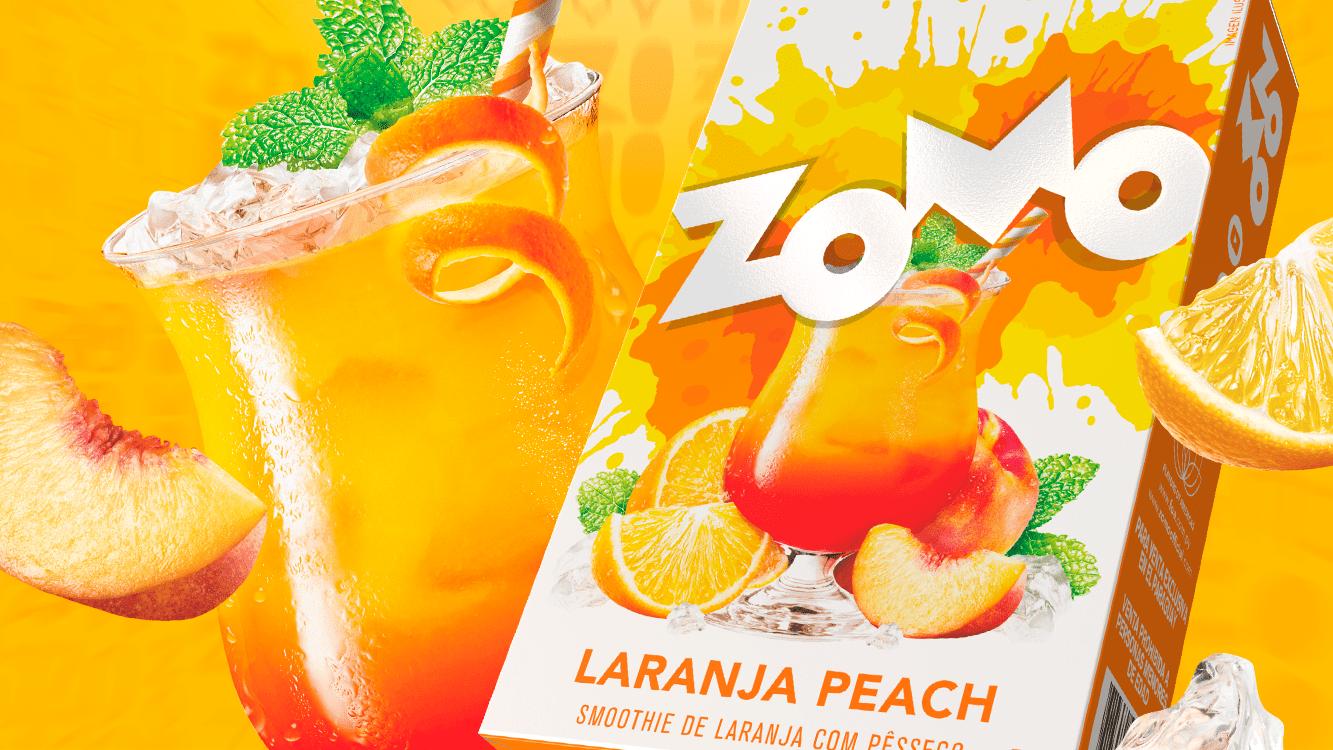 banner nova essência laranja peach