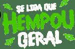 Banner com texto hempou geral cor verde